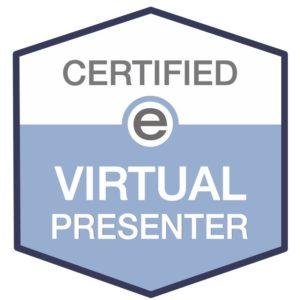 Certification stamp for Antoni Lacinai as a Virtual Presenter 2020